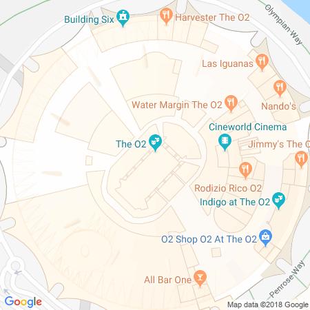 Adresse du O2 Arena