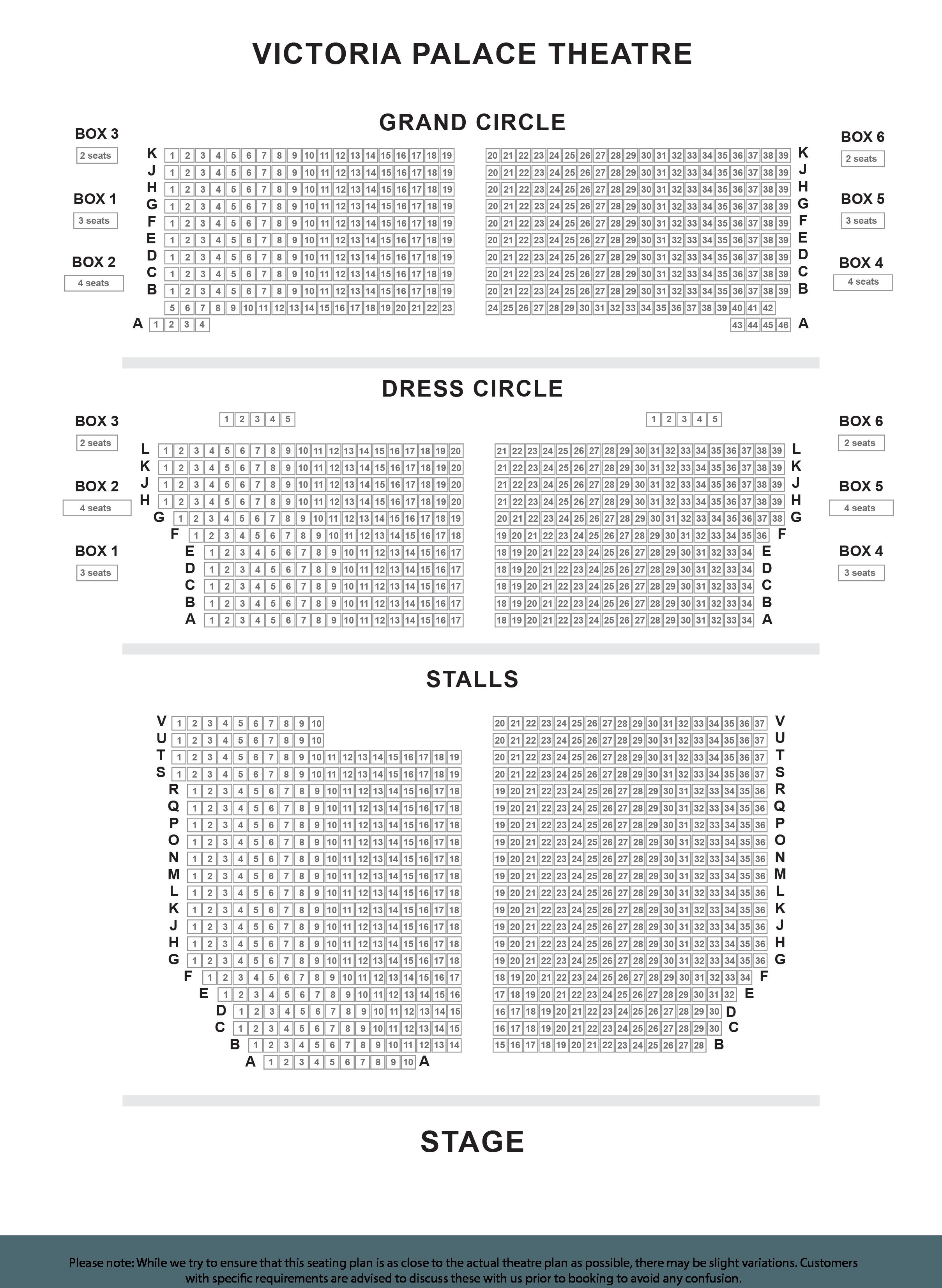 palace plan de salle box office