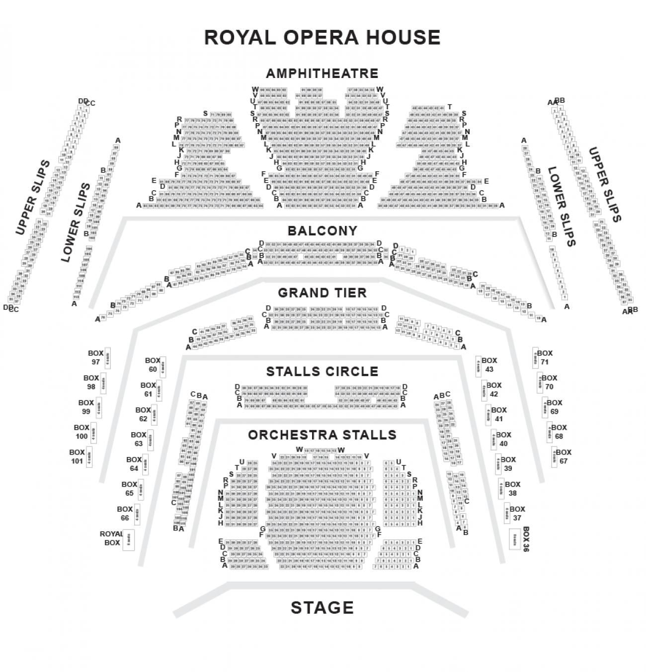 Royal Opera House - Plan de Salle
