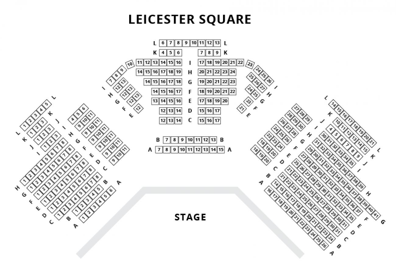 Leicester Square Theatre - Plan de Salle