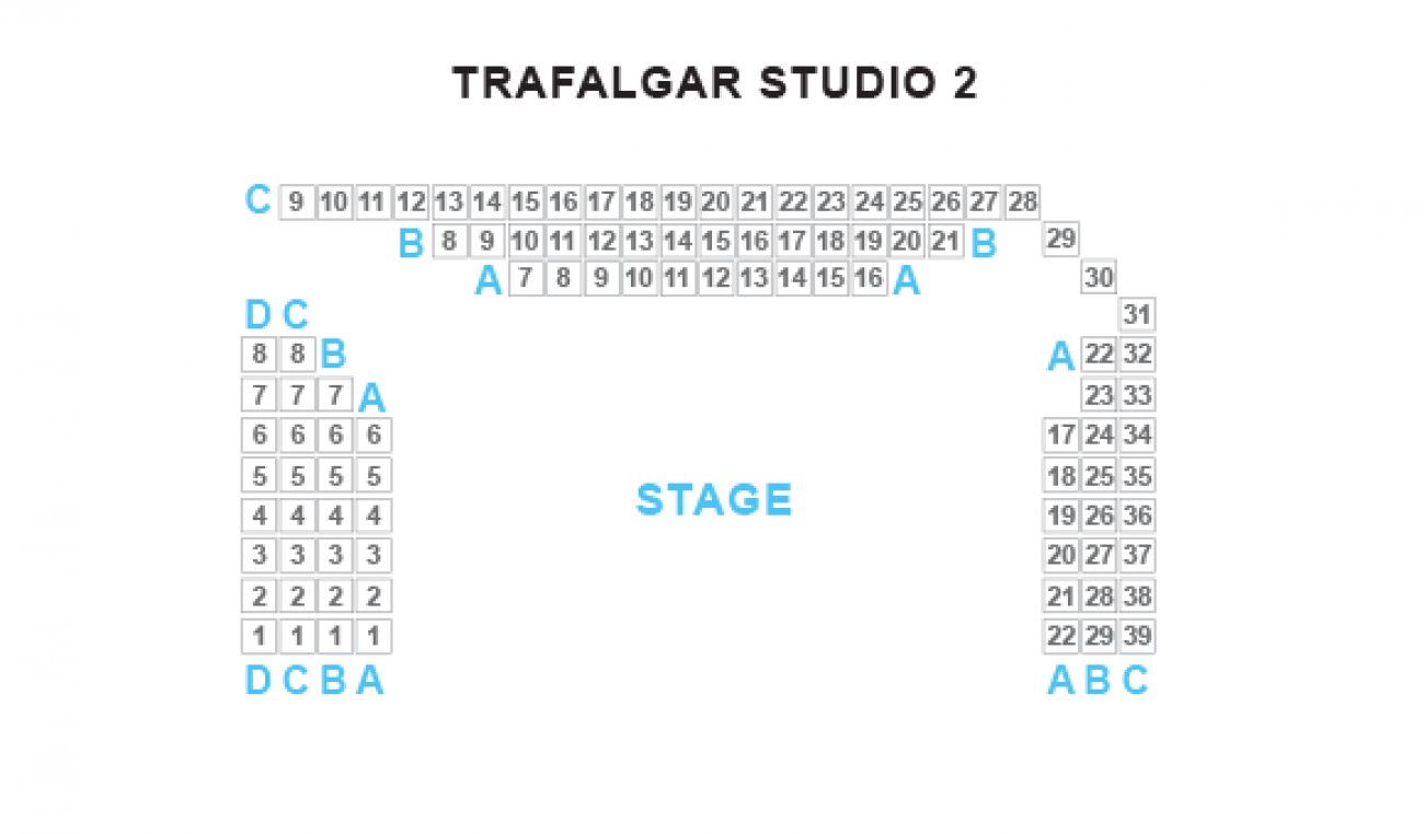 Trafalgar Studio Two - Plan de Salle