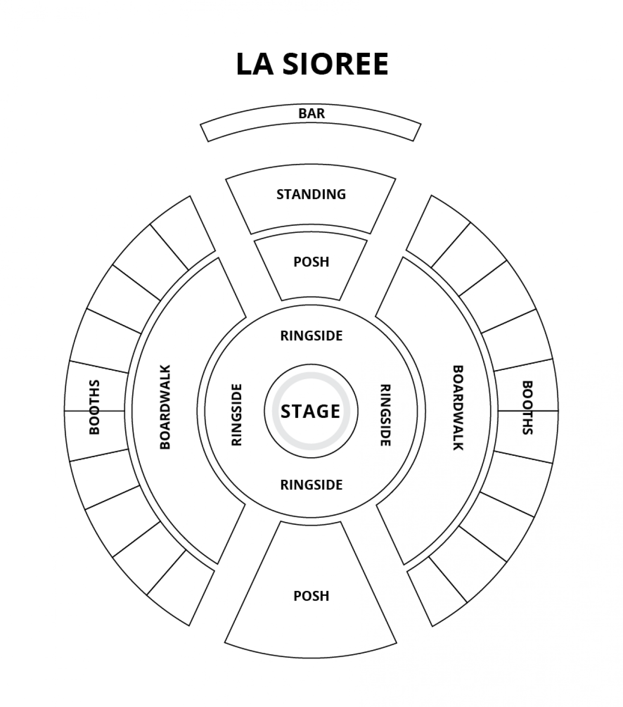 The Spiegeltent - Plan de Salle
