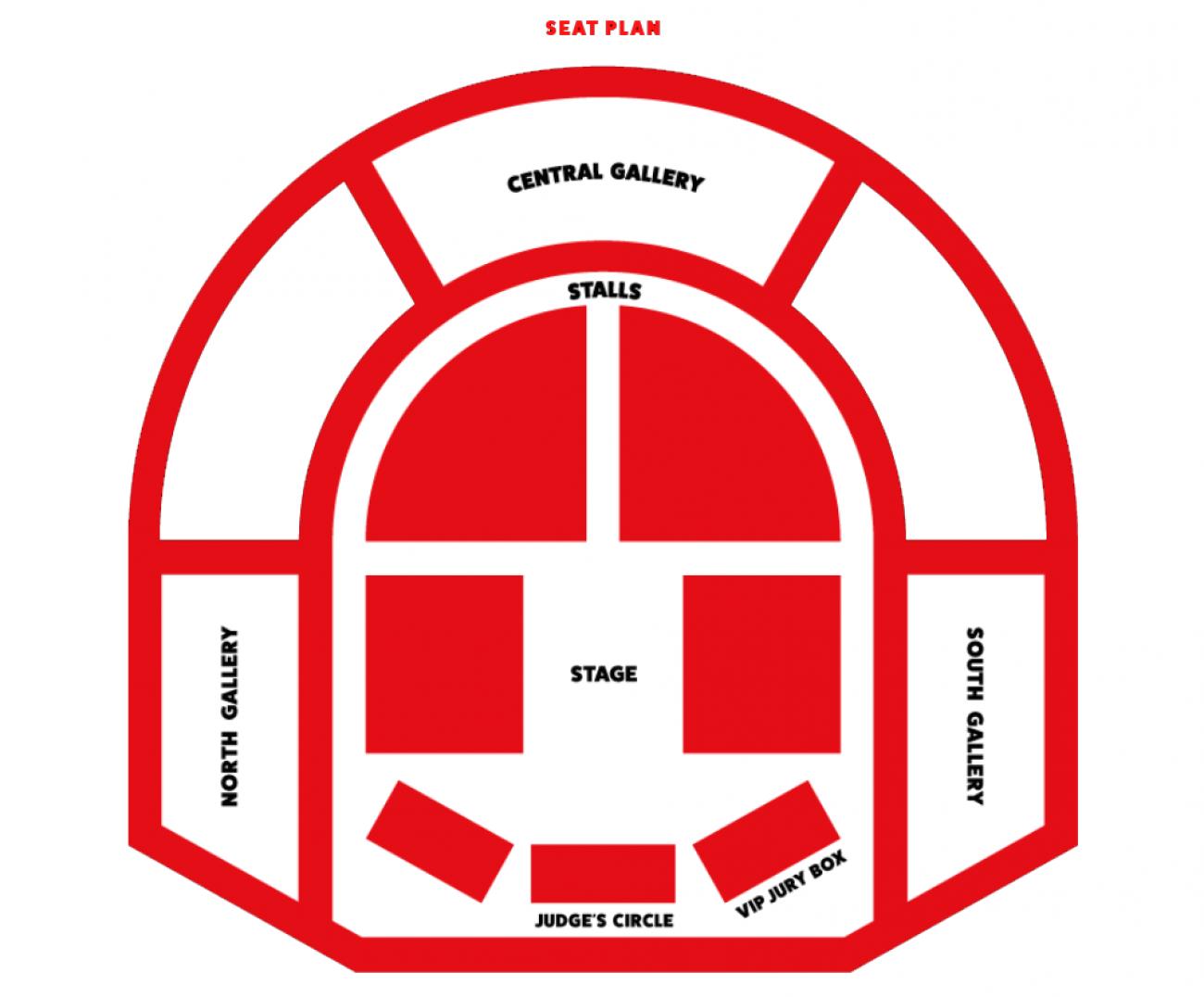 London County Hall - Plan de Salle
